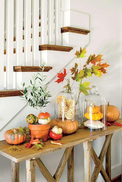 herfst decoratie,herfst interieur,interieur in herfst sfeer,hal in herfstsfeer