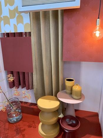 woontrends,roze met retro stoffen,interieurtrend roze