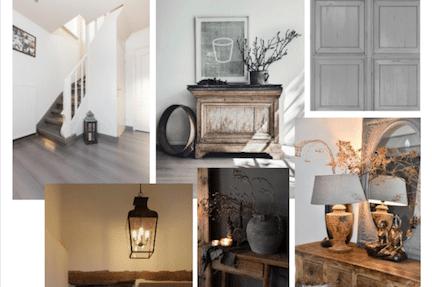 stylen van de hal,landelijk interieur,landelijke woonstijl,styling tips hal,stairz traprenovatie
