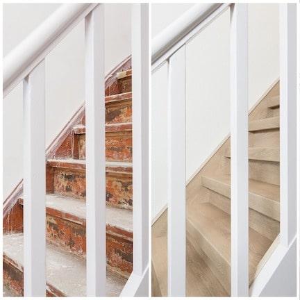 klussen in huis,trap renoveren,stairz traprenovatie,oude en nieuwe trap,houten trap renoveren