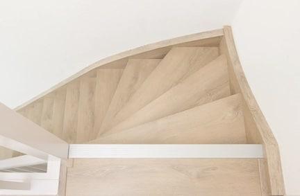 eiken houten trap,eiken houten traprenovatie,stairz traprenovatie