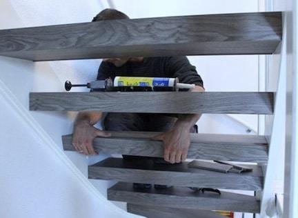 houten trap renoveren,trap opknappen,monteur stairz traprenovatie,plaatsen traptreden