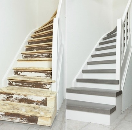 krakende trap,traprenovatie voor en na,stairz traprenovatie