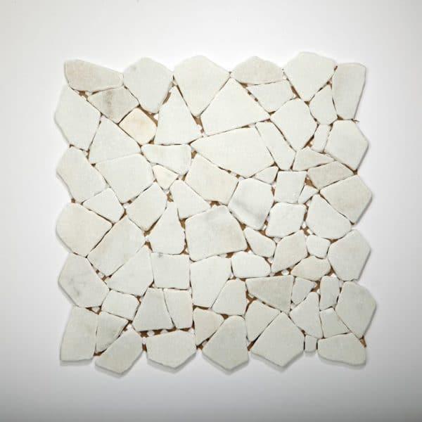 Mozaïek tegel breeksteen marmer creme