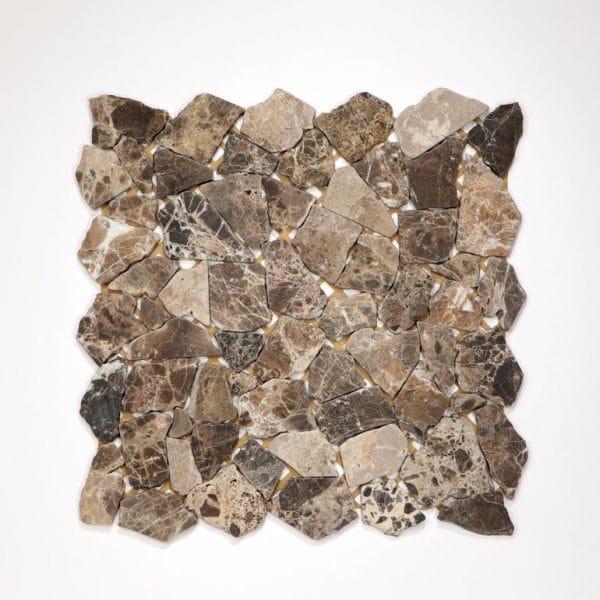 Mozaïek tegel breeksteen marmer bruin