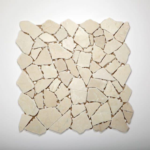 Mozaïek tegel breeksteen marmer wit