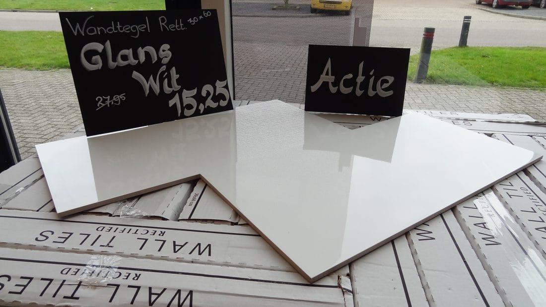 Witte Wandtegel 30 215 60 Gerectificeerd Actie