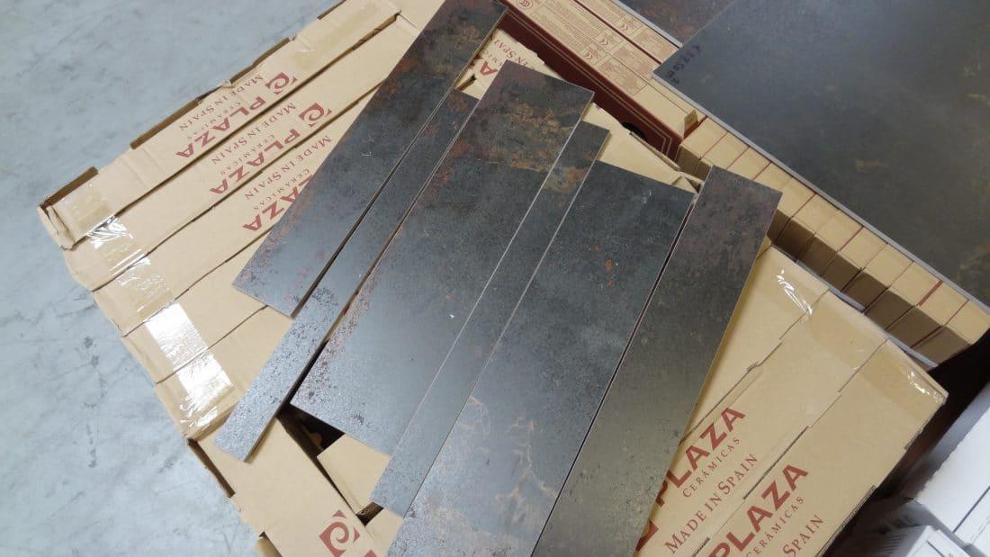Metallook Tegel Strokenmix