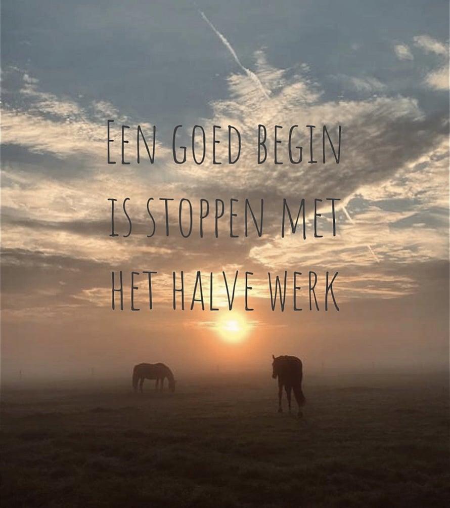 Een Goed Begin Is Stoppen Met Het Halve Werk