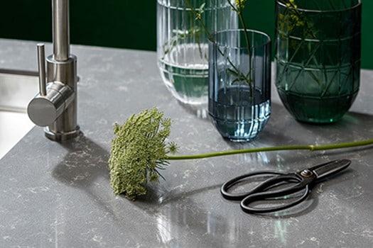 Beton of betonlook keukenbladen - Evora Quartz