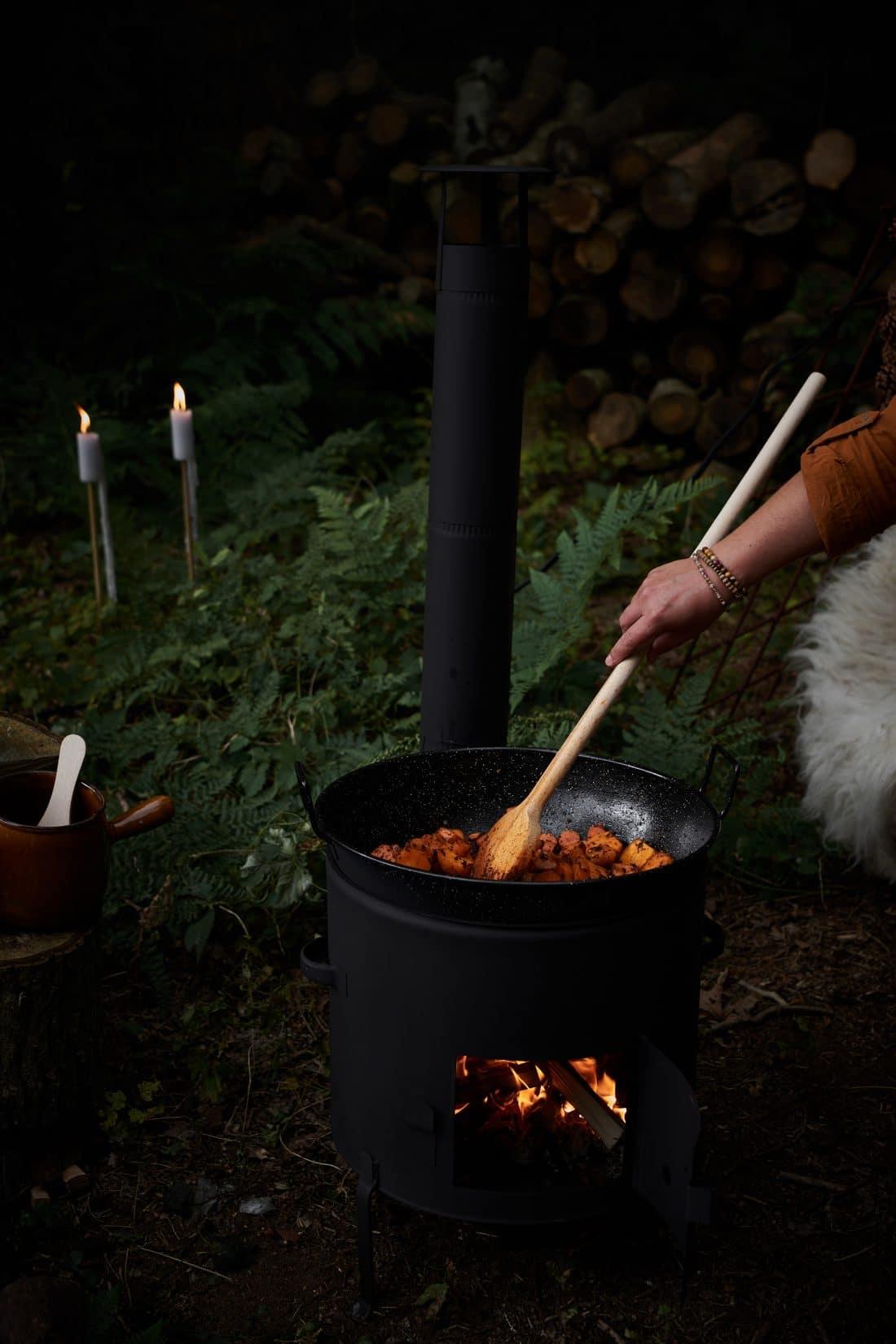 VUUR LAB. buitenkookkachel met wokpan