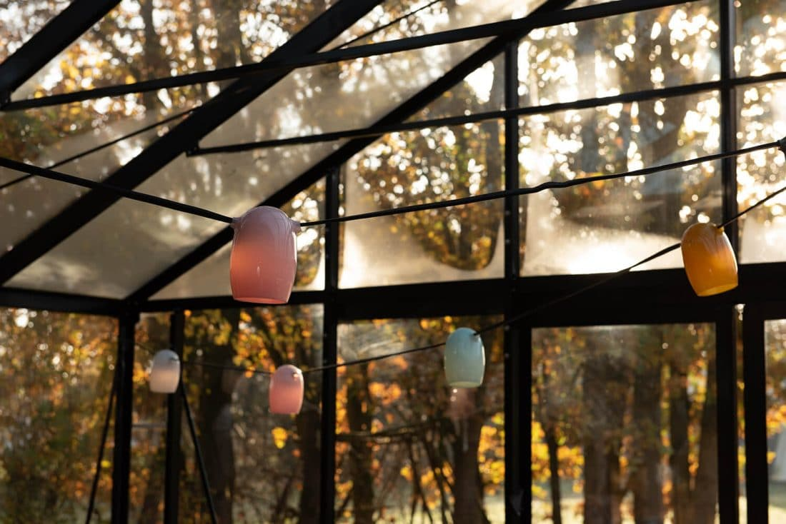 Stringlight Lichtsnoer Met 8 Gekleurde Lampenkapjes