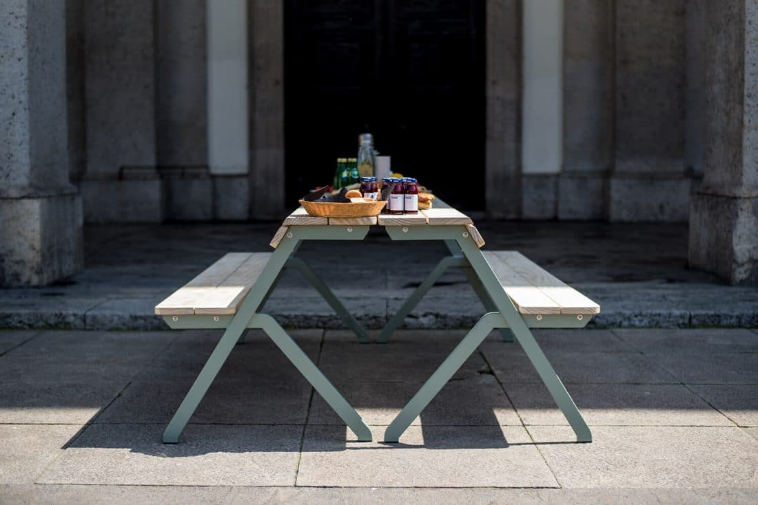 Table Bench 4 Seater