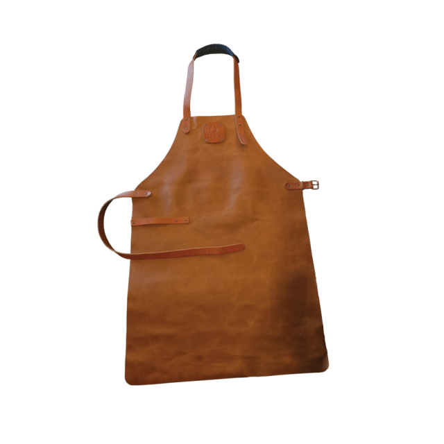 Leren Barbecue Short Bruin Ofyr