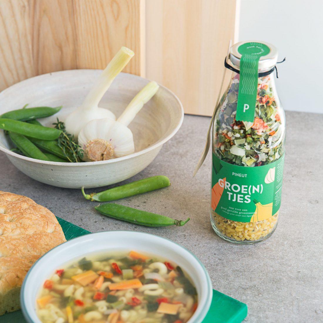 Soepperlekkere groentesoep van Pineut