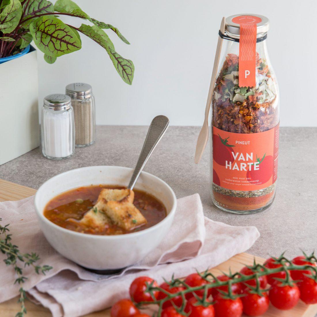 Soepperlekkere tomatensoep van Pineut