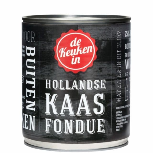 Hollandse Kaasfondue in blik
