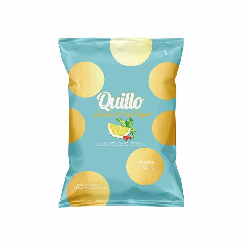 Quillo chips Lemon & Pink pepper 45 gram