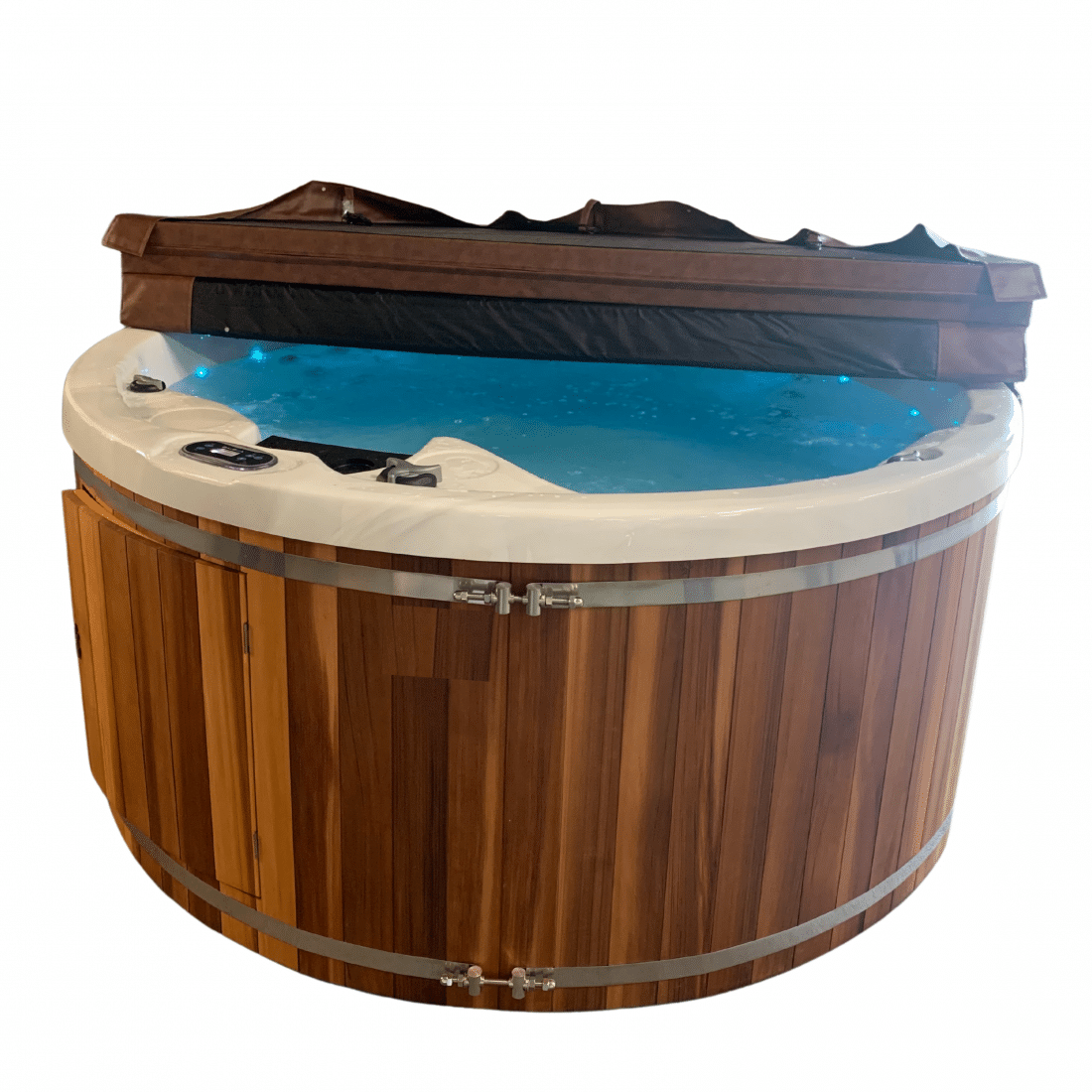 Wellness Tub VUUR LAB. Cover open