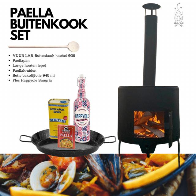 Paella buitenkook set