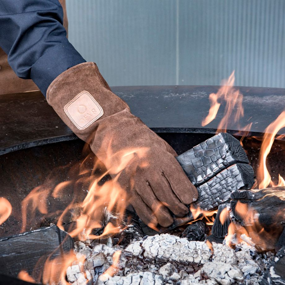 Hittebestendige Handschoenen Bruin Suede