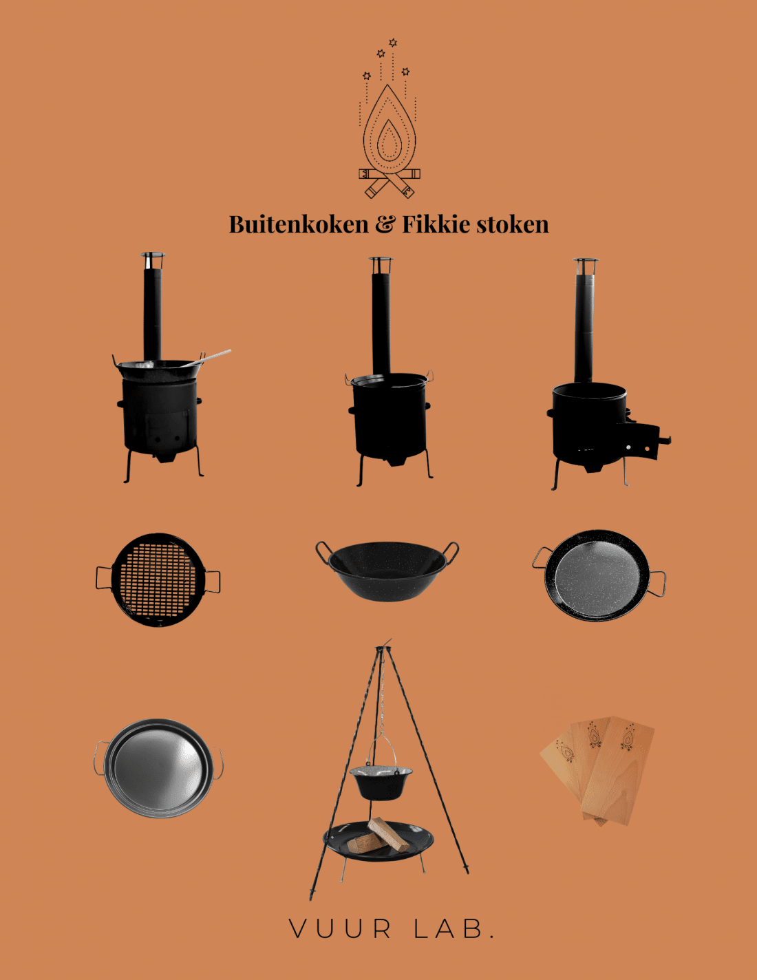 Collectie VUUR LAB. Buitenkoken & Fikkie stoken