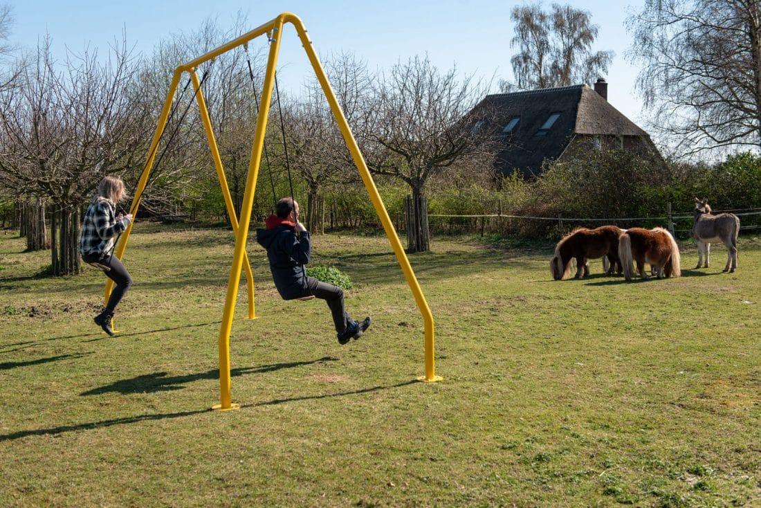Weltevree Serious Swing geel met verlichting