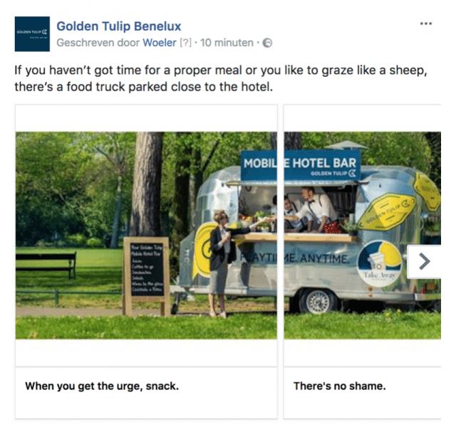 Golden Tulip content Woeler