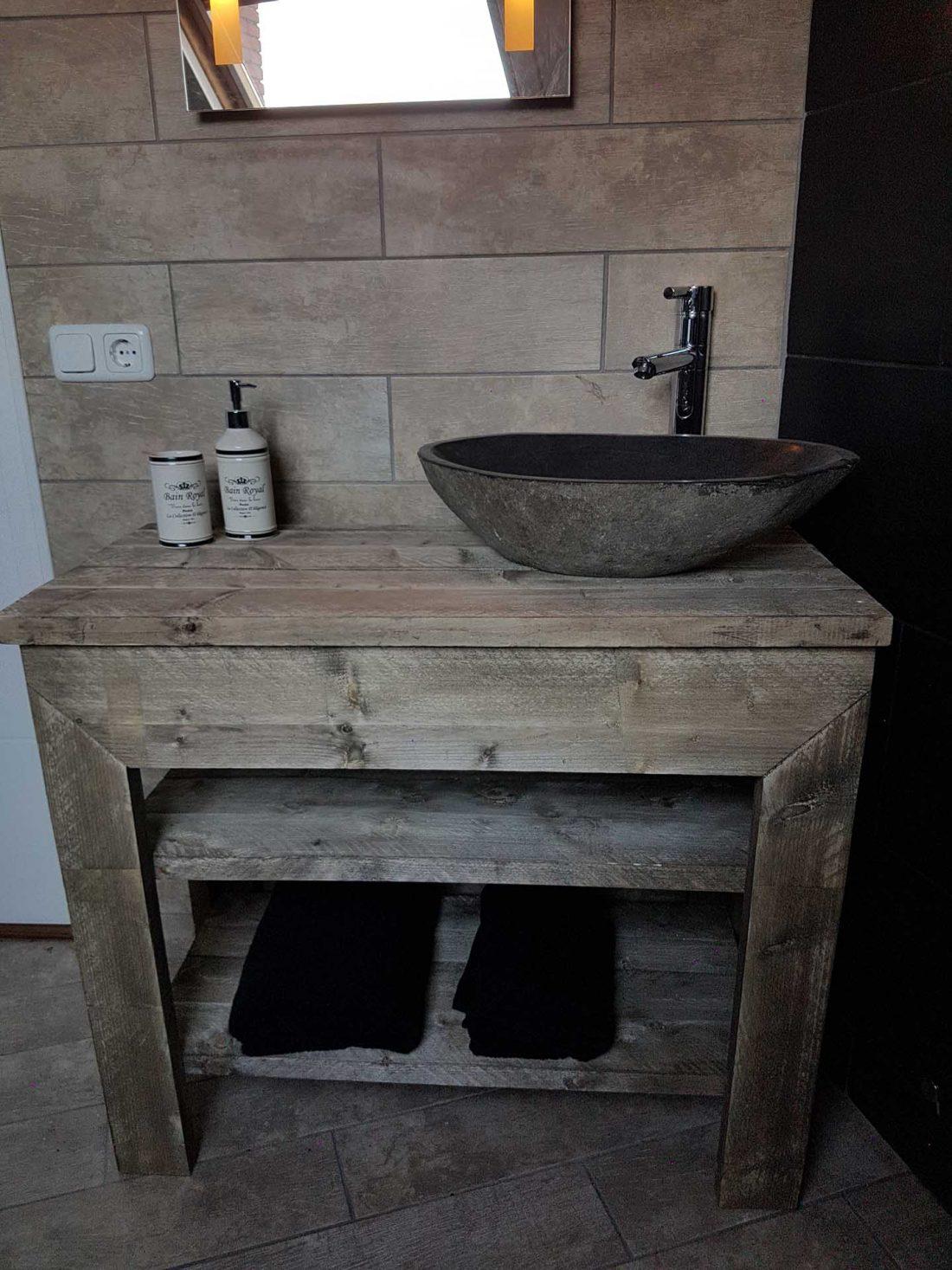 Steigerhouten Badkamermeubel Devi
