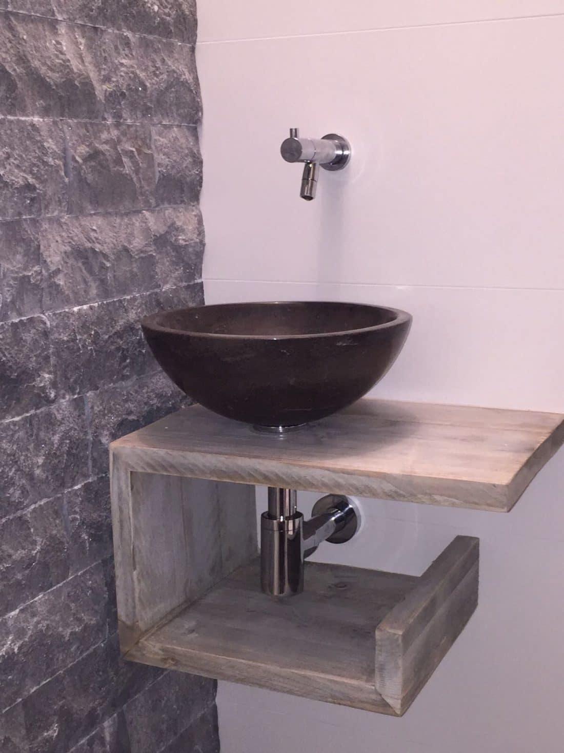 Steigerhouten Toiletmeubel Tasja