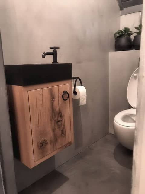 Oud Eiken Toiletmeubel Jess