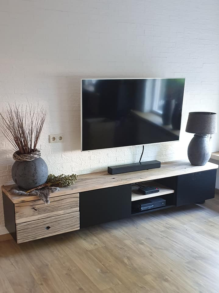 Oud Eiken Mdf Tv Meubel Artinya