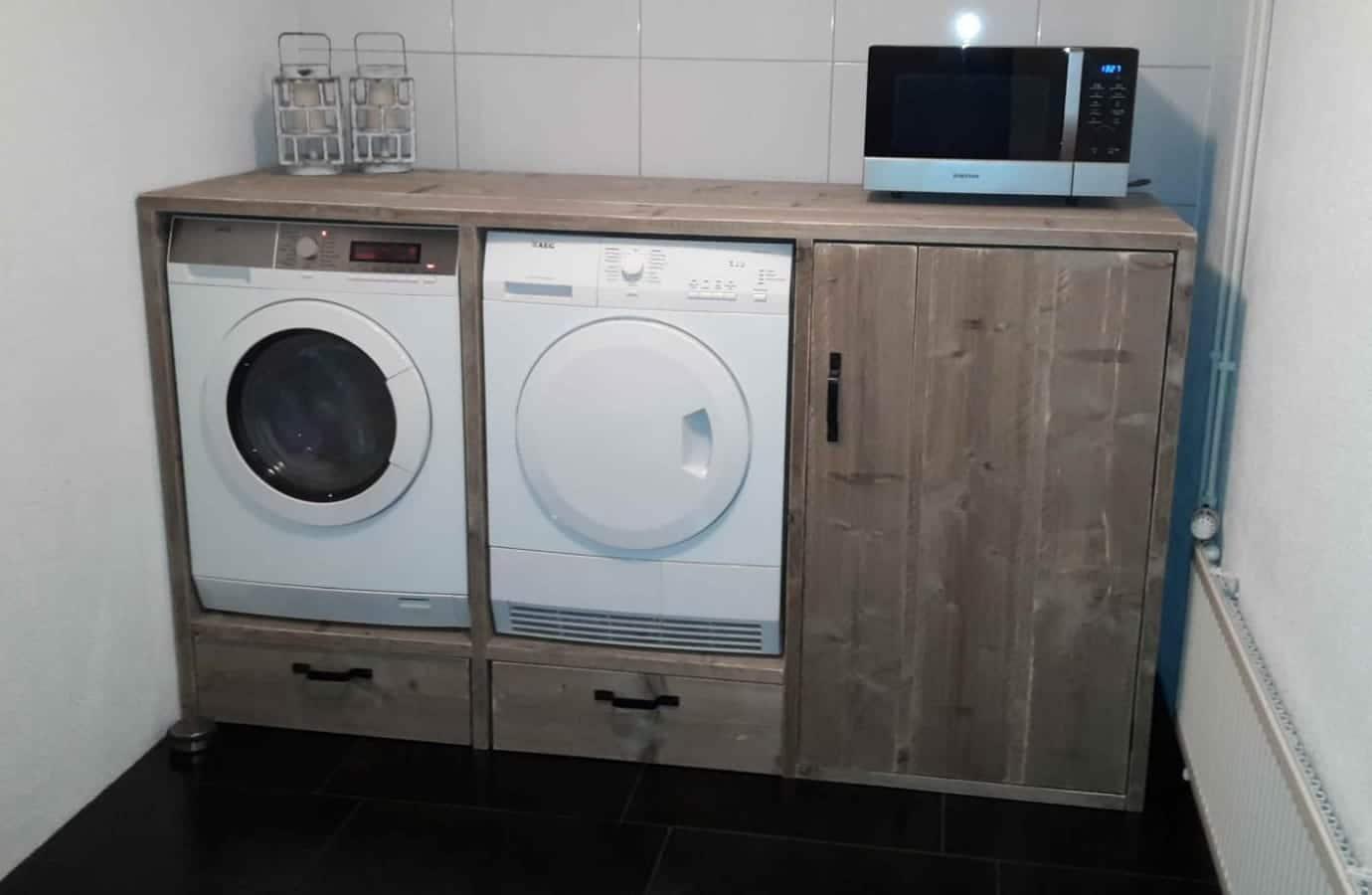 Steigerhouten Wasmachine Ombouw L