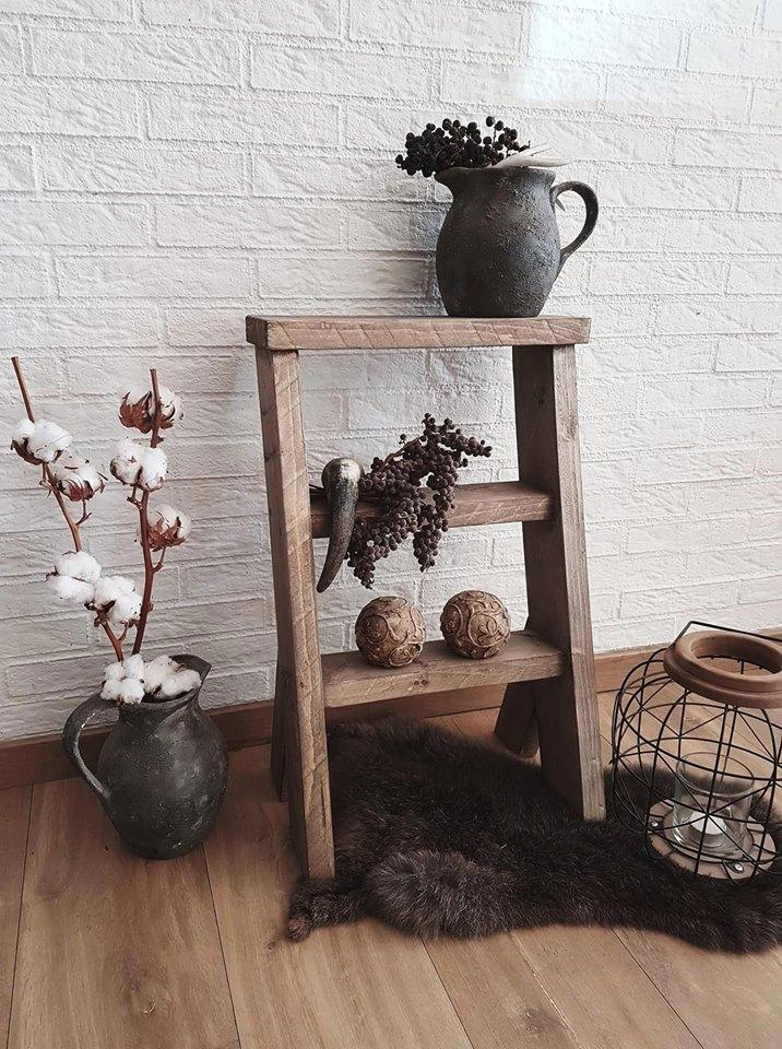 Decoratie Trapje Steigerhout Woodchoice