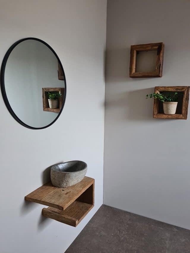 Oud Eiken Barnwood Toiletmeubel