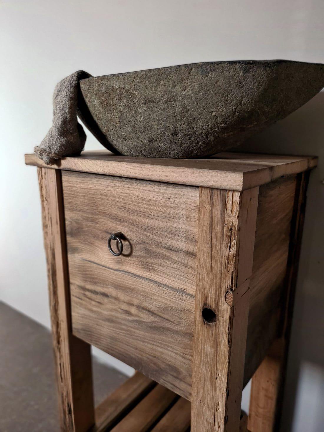 Oud Eiken Toiletmeubel Sade
